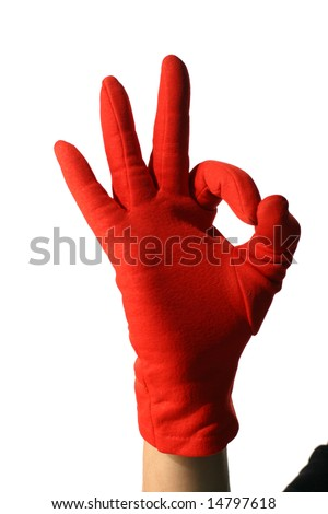 red hand show okay - stock photo