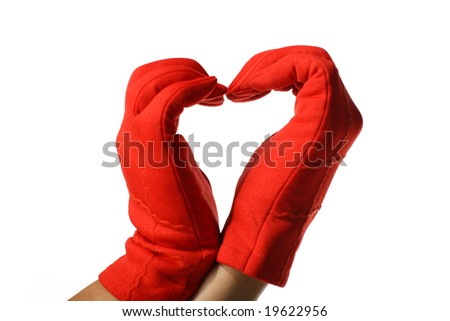 red hands - stock photo