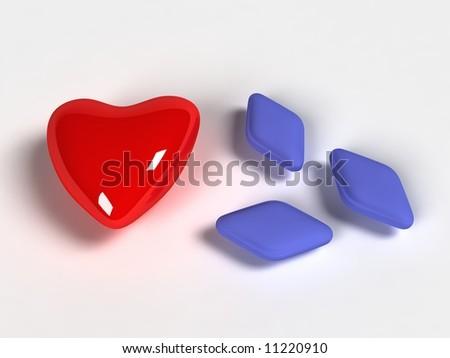 Red viagra pill