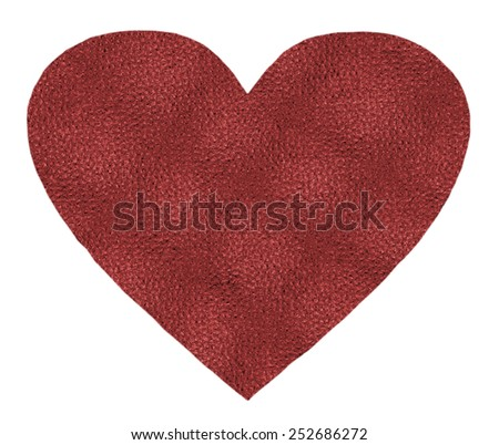 red heart as a symbol  on white background