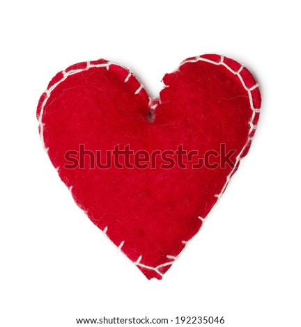 Red Heart Christmas Decoration - stock photo