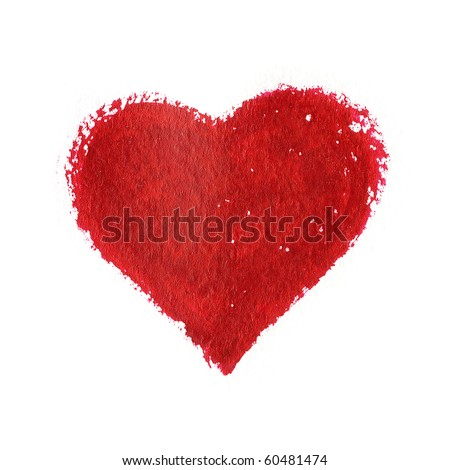 red heart isolated on a white background - stock photo