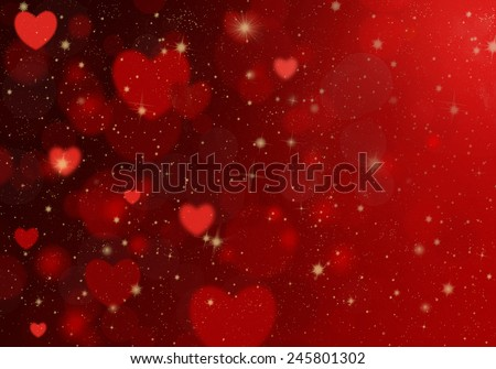 Red heart on a red background. Background Valentine's Day. - stock photo
