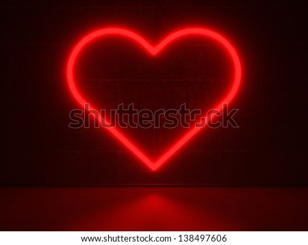 Red Heart - Series Neon Signs