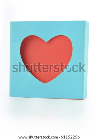Red heart shaped note paper - stock photo