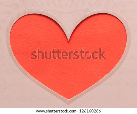 red heart shaped with pattern on paper