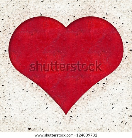 Red Heart Texture Background