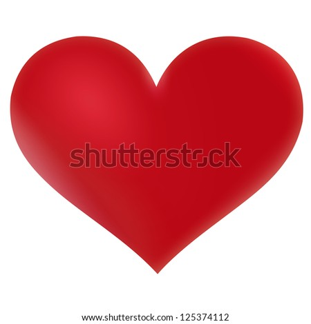 Red heart Valentine - stock photo