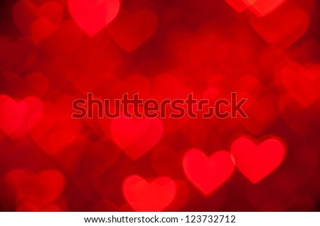 red hearts as background - stock photo