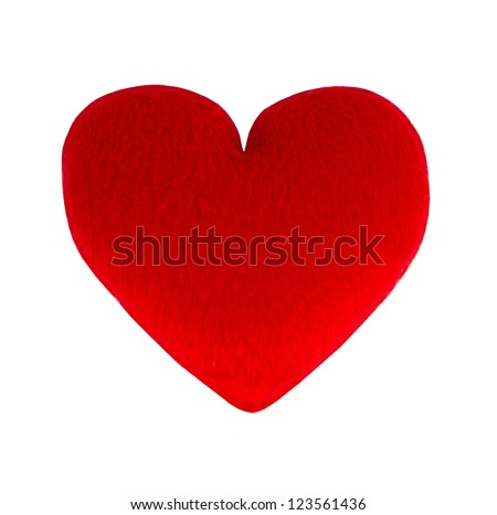 red hearts, love concept - stock photo