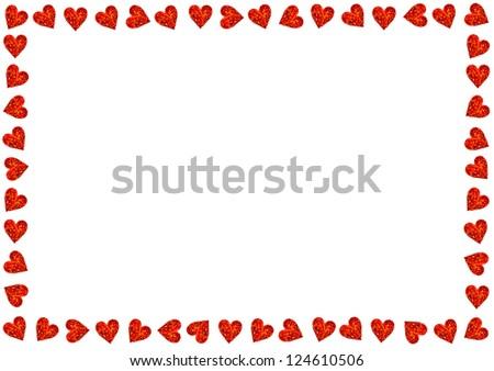 Red Hearts On White Background Valentines Photo 124610506 – Valentine Card Background