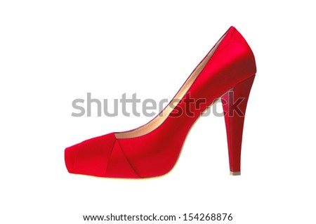 red high heeled shoe isolated on white background - stock photo