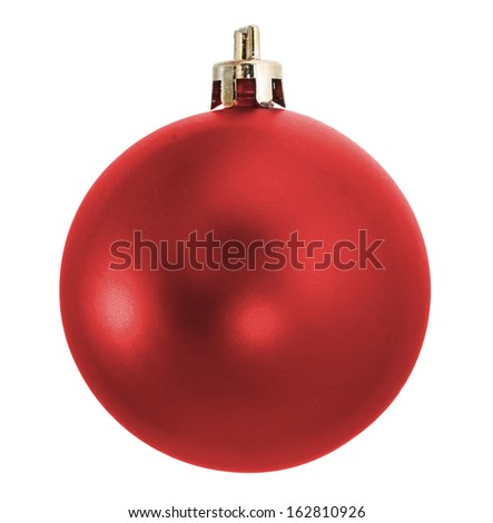 Red holiday fir tree ball - stock photo