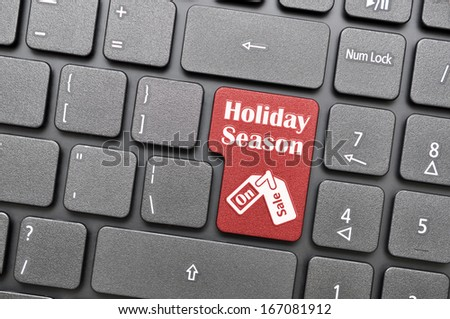 Red holiday season on sale key on keyboard