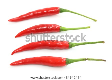 Red hot chili pepper isolated on a white background - stock photo