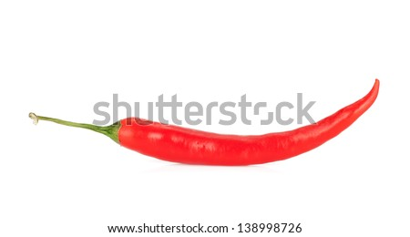 Red hot chili pepper. Isolated on white background