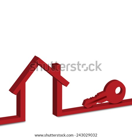 Red House Vector Mortgage - stock photo