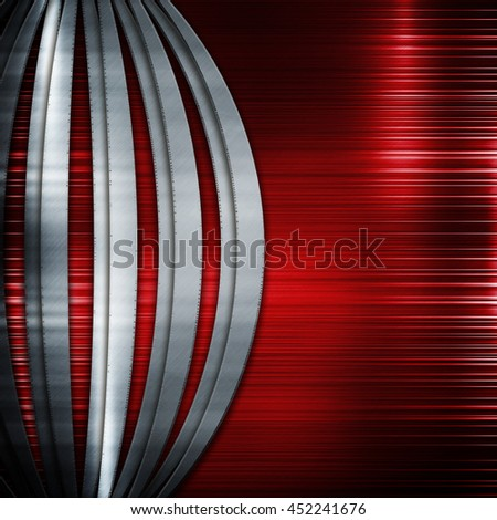 Red Iron metal template for industrial background and technology design and composition