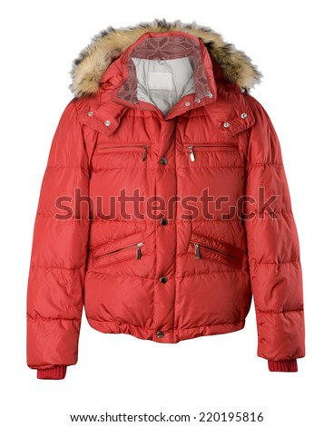 red jacket isolated on white - stock photo