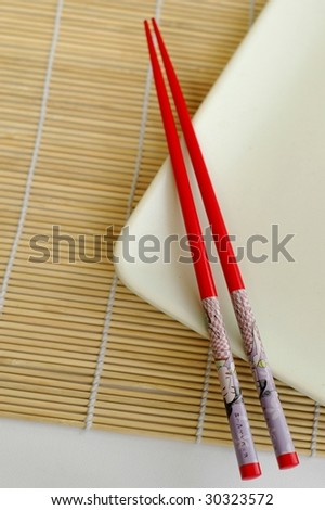 Red Japanese Chopsticks