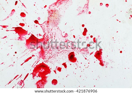 Red juice splash closeup isolated on white background. Red wine splash, isolated on white background. Splashing fresh red drink. Creative aqua drop. - stock photo