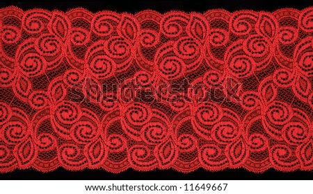 red lace - stock photo