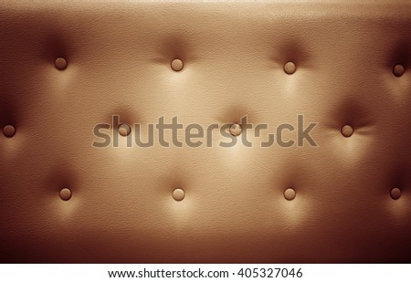 Red leather sofa texture background. Vintage - stock photo