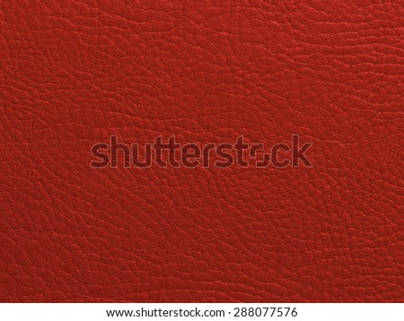 Red leather texture closeup - stock photo