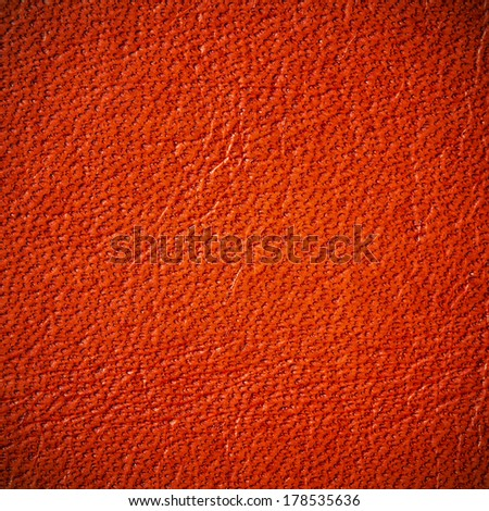 Red Leather texture or background - stock photo