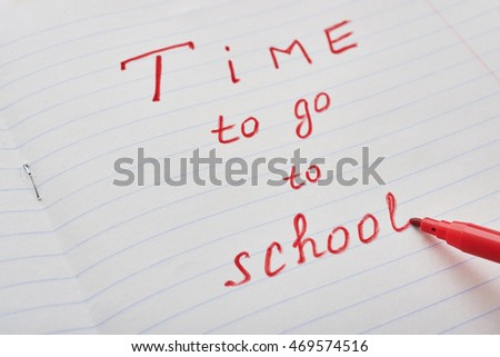 red letters to school time