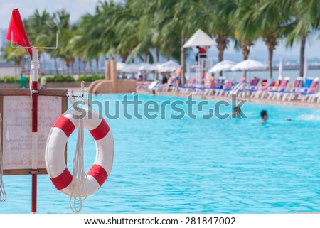 Pool safety stock images royalty free images vectors shutterstock for Community swimming pools near me