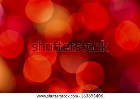 red light circle, orange colors blurred - stock photo