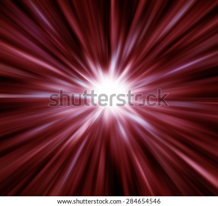 Red light explosion effects background - stock photo