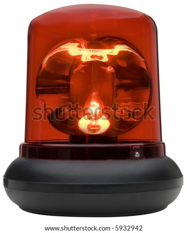 Red Light - isolated on white - stock photo