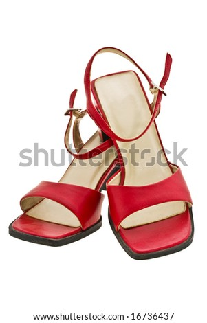 red light sandals expressed on white background