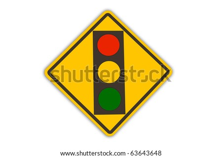 red light traffic sign - stock photo