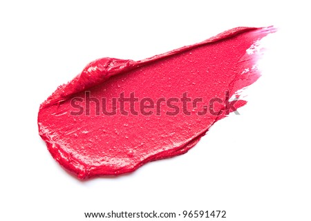 Red lipstick smears - stock photo