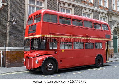 Red London bus - stock photo