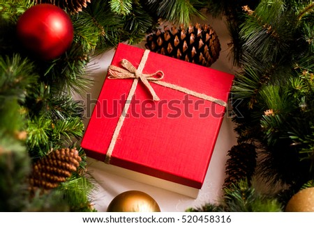 Christmas gift red luxury new year gift christmas gift happy new year 2017 christmas background negle Choice Image