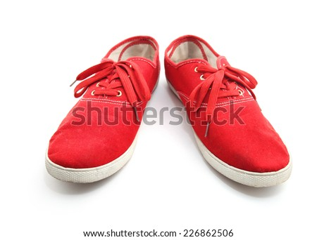 Red man shoes isolated on a white background