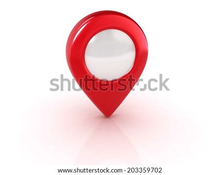 red map pointer isolated illustration - stock photo