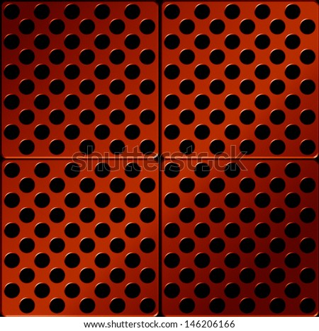 Red Metal plate , abstract background - stock photo