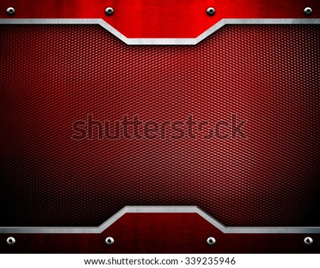 red metal template  - stock photo