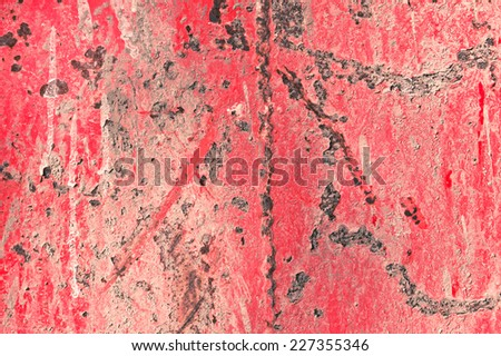 Red metallic rusted surface as a textured background - stock photo