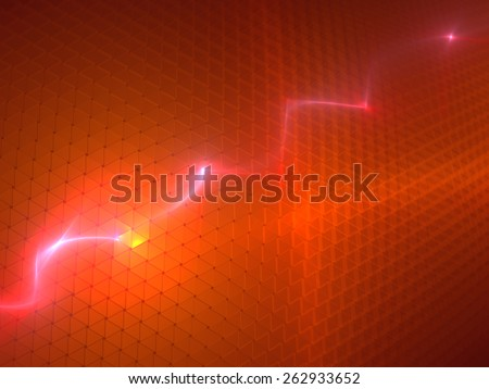 Red Modern Background - stock photo