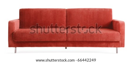Red Modern Isolated Couch
