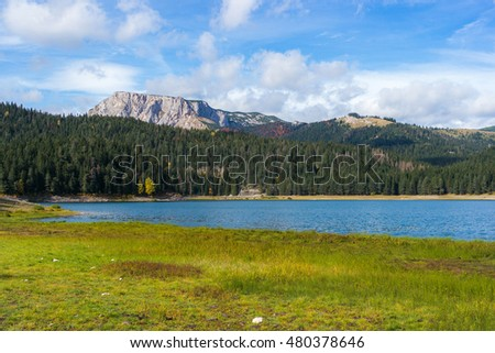 Red mountain ridge in Durmitor National Park, Monenegro