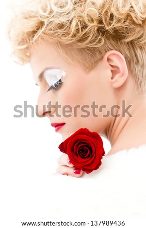 Red nails - stock photo