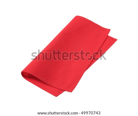 red napkin - stock photo