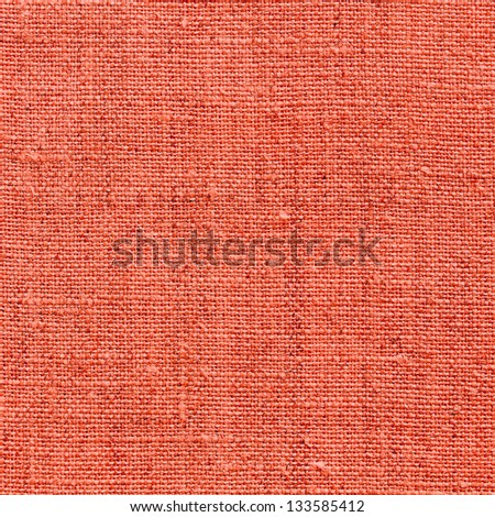 red natural linen texture for the background - stock photo